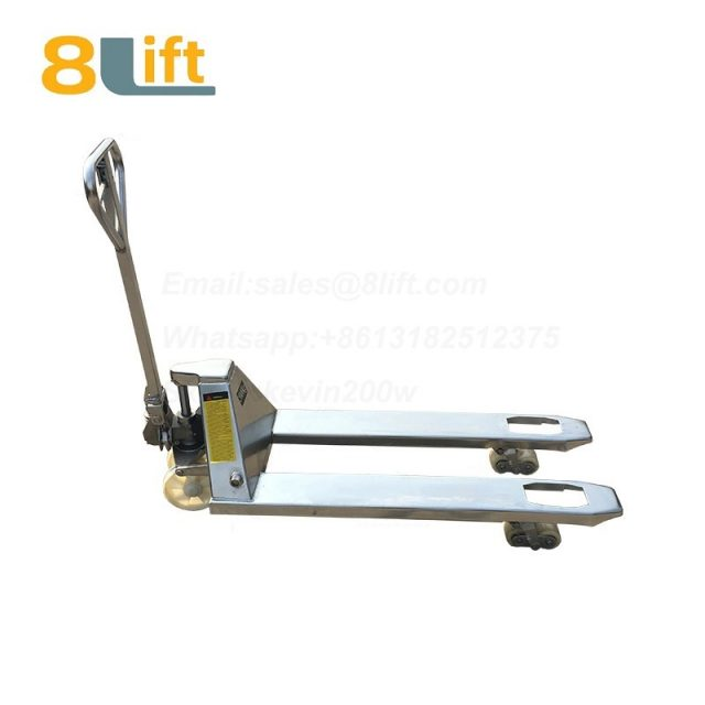 304 Stainless Steel Hydraulic Manual Hand operated lift Pallet Jack Pallet Truck-2-1