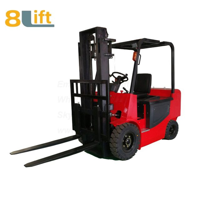 Battery Power Lift Four Wheels Drive Electric forklift truck-1-1