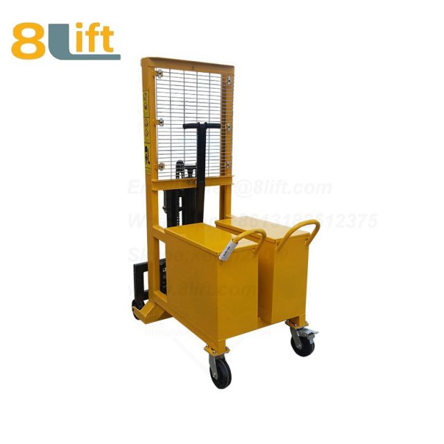 Counterweight Counter Balance Hydraulic Manual Hand Operate Lift Eagle Mouth Clamp Handing Clip Hook Oil Drum Manual stacker1