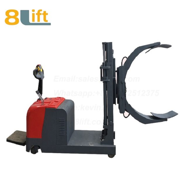Counterweight Counter Balance Hydraulic Standing Drive Battery Power Lift Rotate Clamp Handing Clip Oil Drum Electric stacker1-1