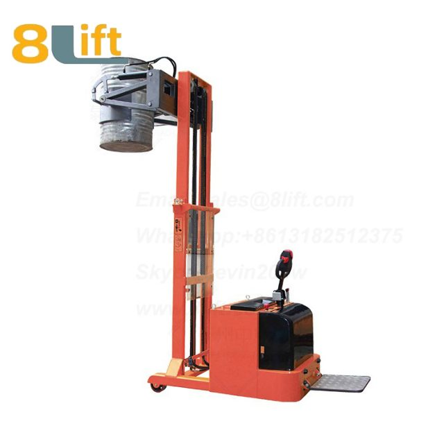 Counterweight Counter Balance Hydraulic Standing Drive Battery Power Lift Rotate Clamp Handing Clip Oil Drum Electric stacker2-1