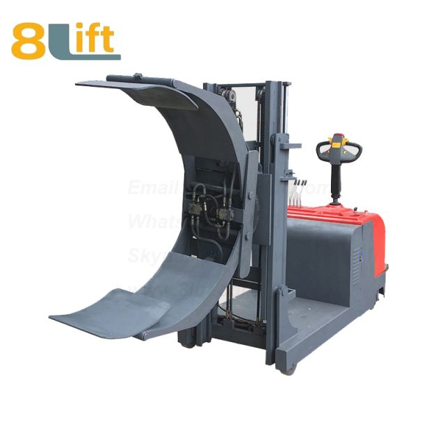 Counterweight Counter Balance Hydraulic Standing Drive Battery Power Lift Rotate Clamp Handing Clip Oil Drum Electric stacker3-1