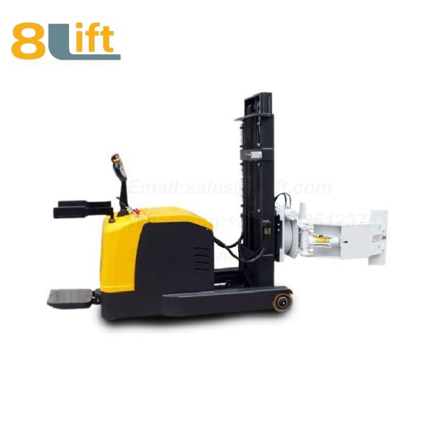 Forwarder Reach Hydraulic Standing Drive Battery Power Lift Rotate Clamp Handing Clip Oil Drum Electric stacker1