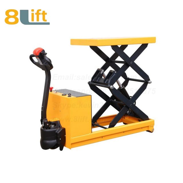 Full electric Automatic self propelled pedestrian walkie Hydraulic scissor platform lift tablel-1-1