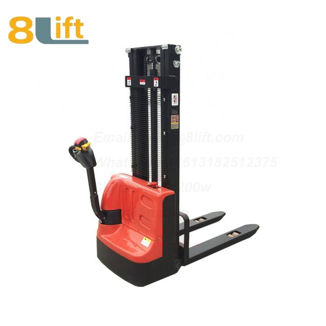 Hydraulic Automatic Battery Powered self propelled pedestrian walkie electric pallet stacker-2-1