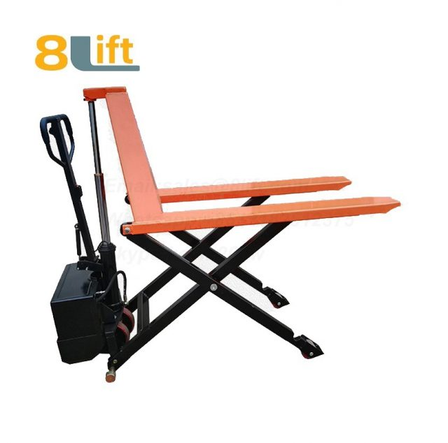 Hydraulic Automatic lift Battery powered Electric high lift scissor pallet jack pallet truck-2-1