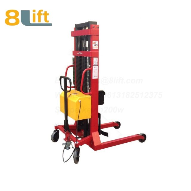Hydraulic Automatic plug-in ac powered Adjustable wide width fork scales semi electric pallet stacker-2-1