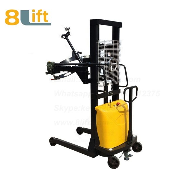Hydraulic Battery Power Lift Eagle mouth Clamp Handing Clip Hook Hoop Type Manual Hand Tilting Flip Rotate Scale Oil Drum Semi Electric stacker1