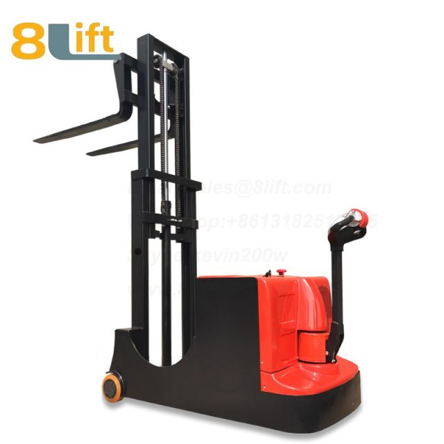 Hydraulic Counterweight Counter Balance Automatic self propelled pedestrian walkie electric stacker-4-1