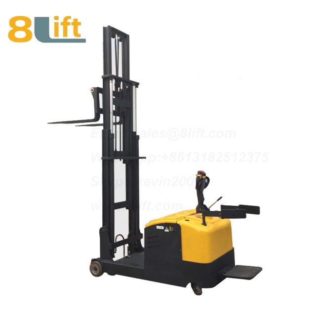 Hydraulic Counterweight Counter Balance stand standing on driving Full electric stacker-10-1