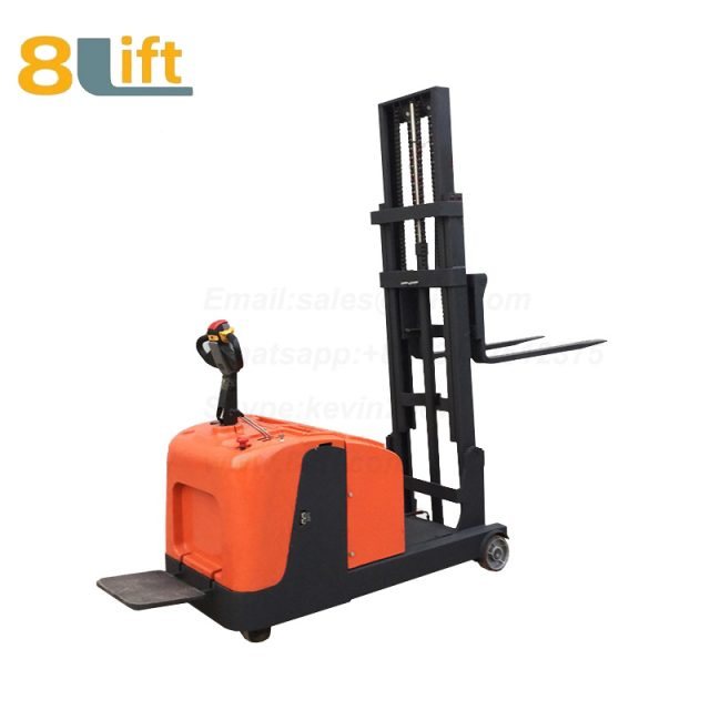 Hydraulic Counterweight Counter Balance stand standing on driving Full electric stacker-9-1