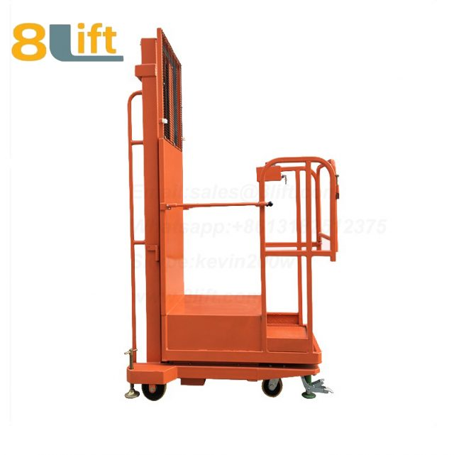 Hydraulic Manned Semi electric platform High altitude order picking picker stacker reclaimer-4-1