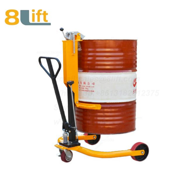 Hydraulic Manual Hand Opearate cylinder Barrel Oil Drum Car Trolley1-1