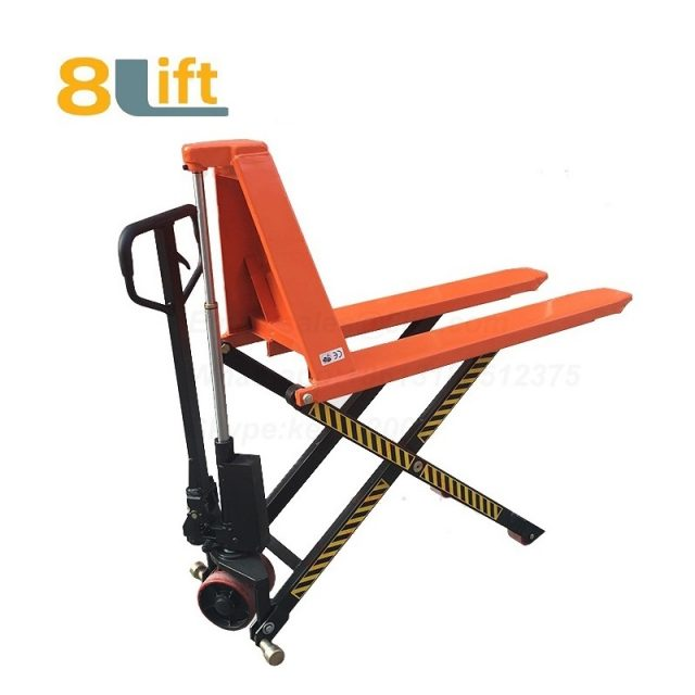 Hydraulic Manual Hand operated high lift scissor pallet jack pallet truck-3-1