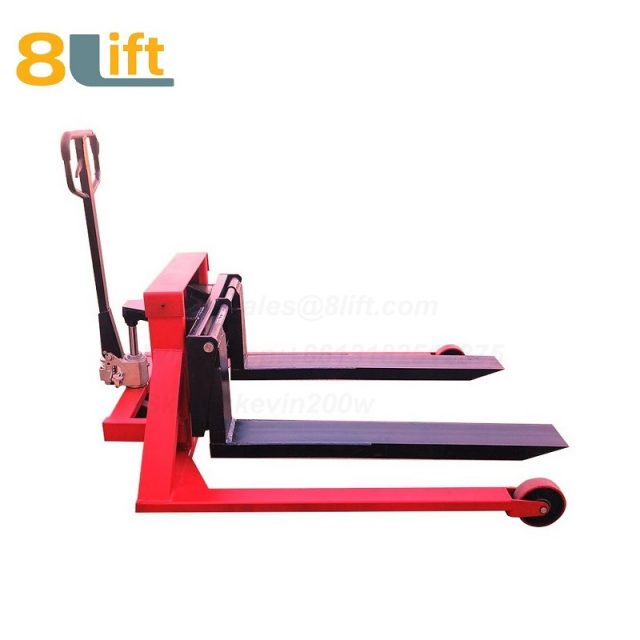 Hydraulic Manual Hand operated lift Straddle Leg Adjustable wide width fork pallet jack Pallet Truck-7-1