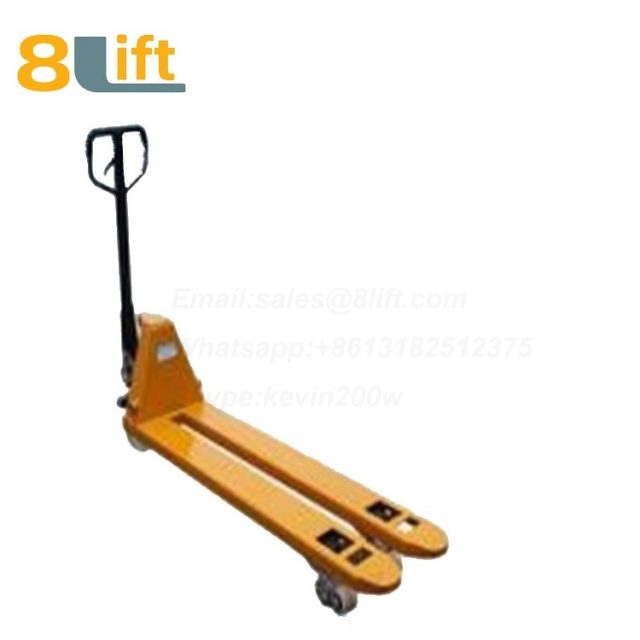 Hydraulic Manual Hand operated lift low profile narrow fork pallet jack Pallet Truck-4-1