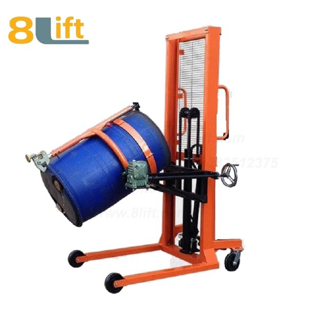 Hydraulic Manual Lift Eagle mouth Clamp Handing Clip Hook Hoop Type Manual Tilting Flip Rotate Oil Drum stacker1-1