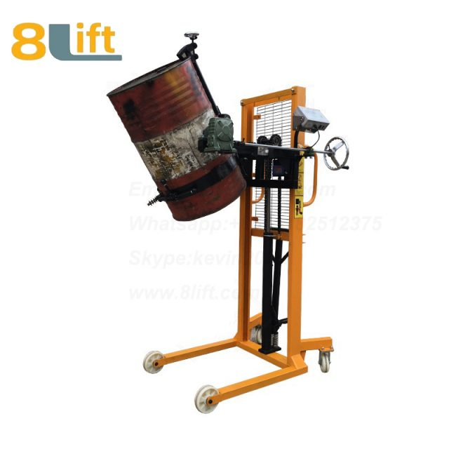 Hydraulic Manual Lift and Move Eagle mouth Clamp Handing Clip Hook Hoop Type Manual Hand Tilting Flip Rotate Scale Manual Hand Oil Drum stacker1-1