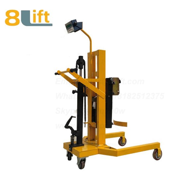 Hydraulic Manual Lift and Move Right Angle Leg Eagle mouth Clamp Handing Clip Hook Scale Manual Hand Oil Drum stacker1