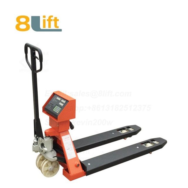 Hydraulic Manual hand operated lift pallet jack weight scale electric Pallet Truck-3-1