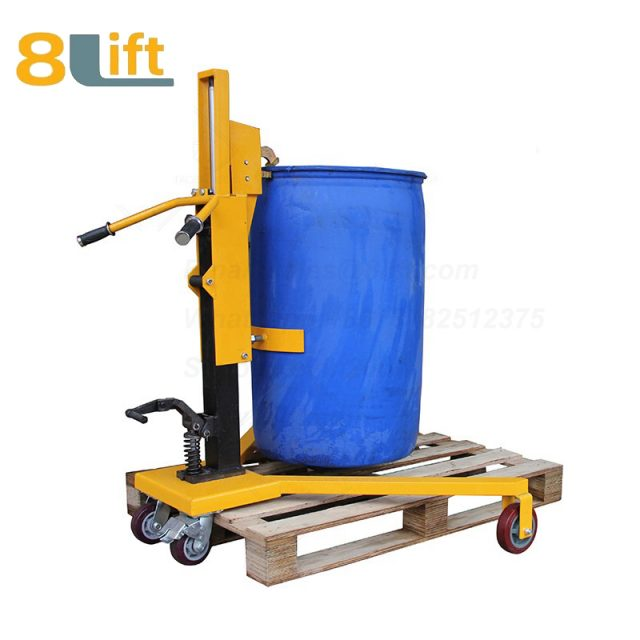 Hydraulic Right Angle Leg Foot Press Step On Cylinder Barrel Oil Drum Trolley Car with Four Wheels-1