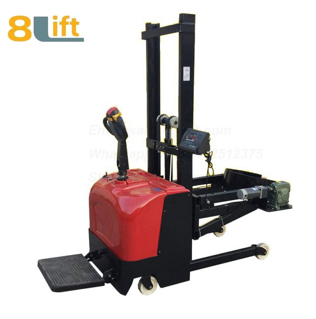 Hydraulic Standing drive Battery Power Lift Clamp Handing Clip Hoop Type Electric Automatic Tilting Flip Rotate Scale Oil Drum Electric stacker1