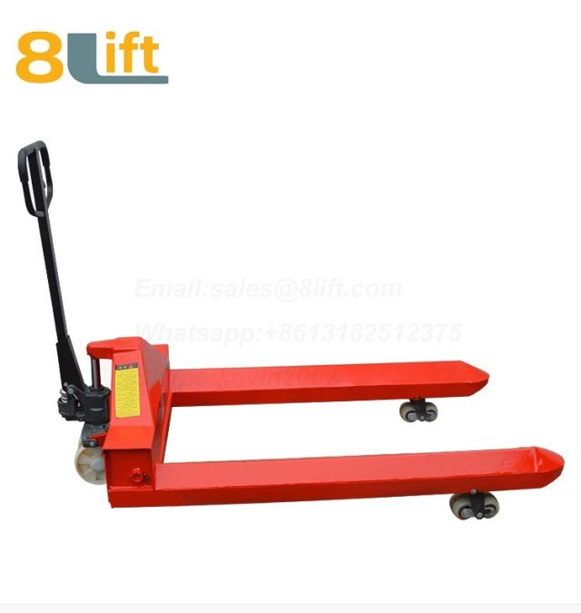 Hydraulic customization Manual Hand operated lift steel coil roll paper roll yarn roller pallet jack Pallet Truck-10-1