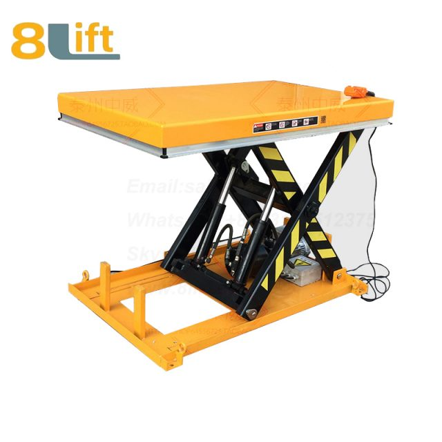 Hydraulic fixed stationary electric scissor platform lift table-2-1