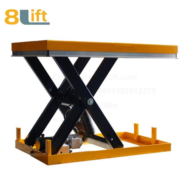 Hydraulic fixed stationary electric scissor platform lift table-3-1