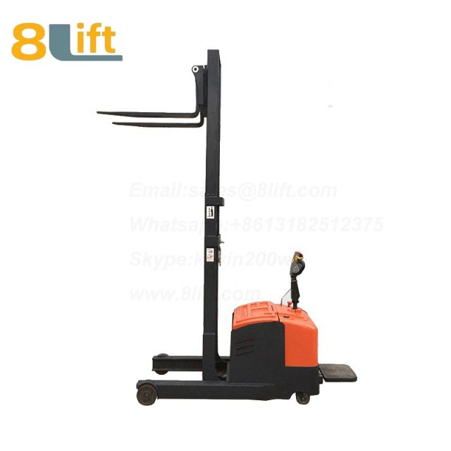 Hydraulic forward reach stand standing on driving full Electric stacker-12-1