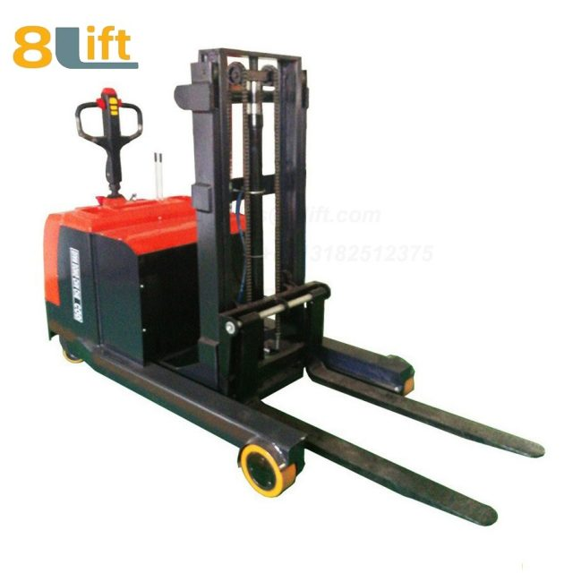 Hydraulic forward reach stand standing on driving full Electric stacker-13-1