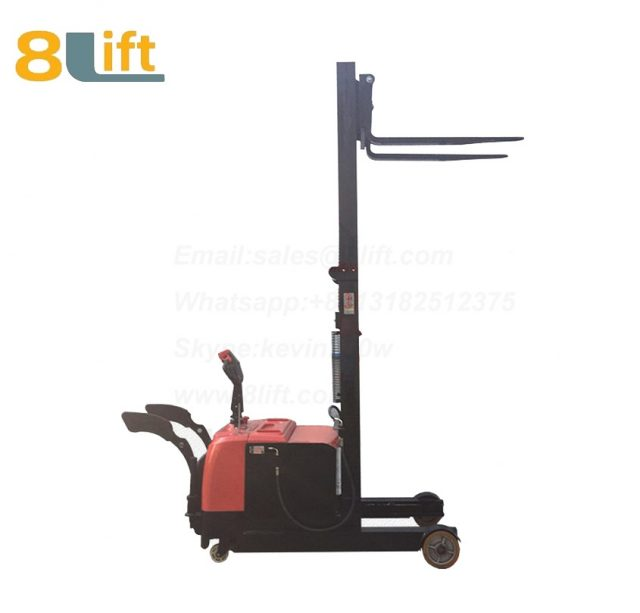Hydraulic forward reach stand standing on driving full Electric stacker-7-1
