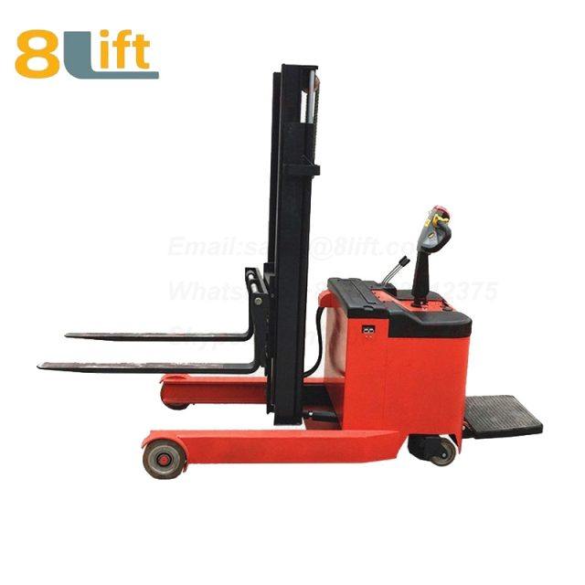 Hydraulic forward reach stand standing on driving full Electric stacker-9-1