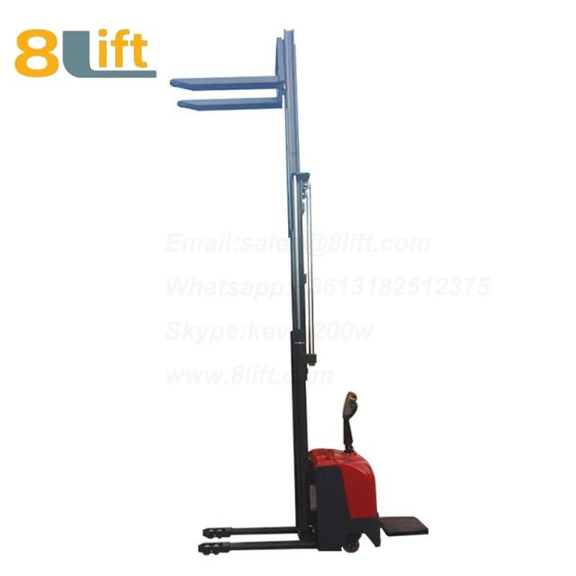 Hydraulic stand standing on driving full electric stacker-1-1