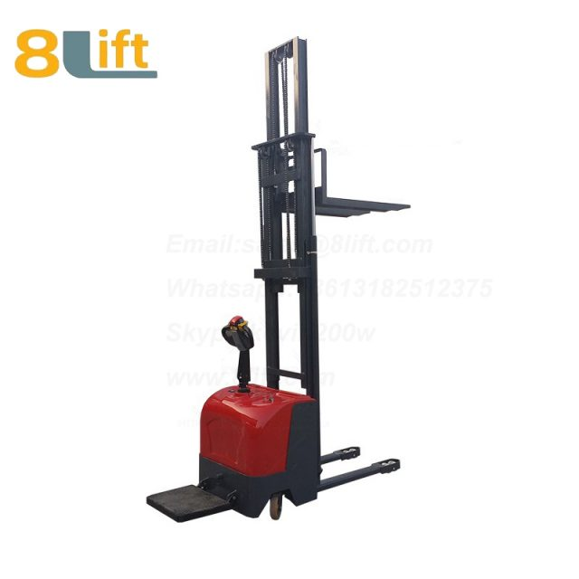 Hydraulic stand standing on driving full electric stacker-12-1