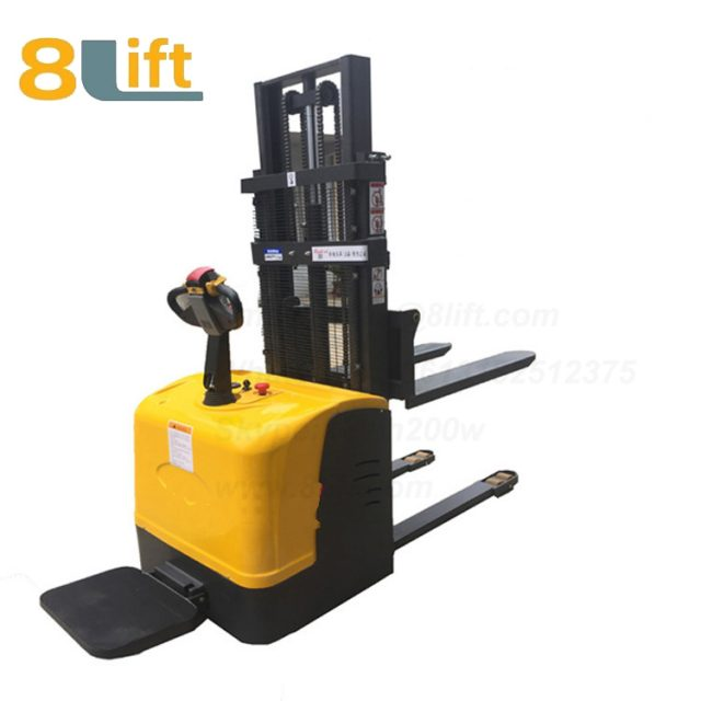 Hydraulic stand standing on driving full electric stacker-14-1