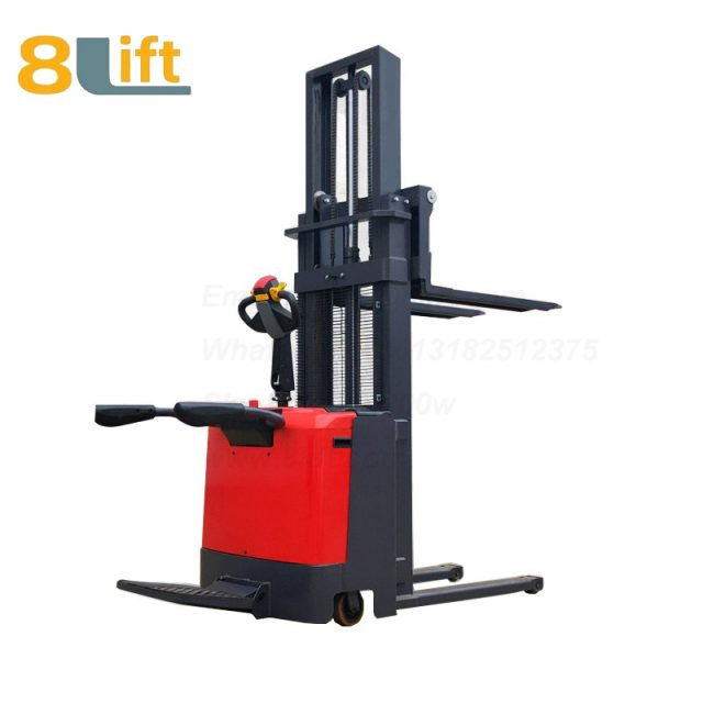 Hydraulic stand standing on driving full electric stacker-2-1
