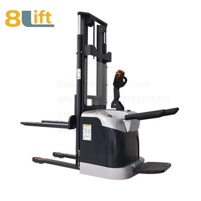 Hydraulic stand standing on driving full electric stacker-4-1