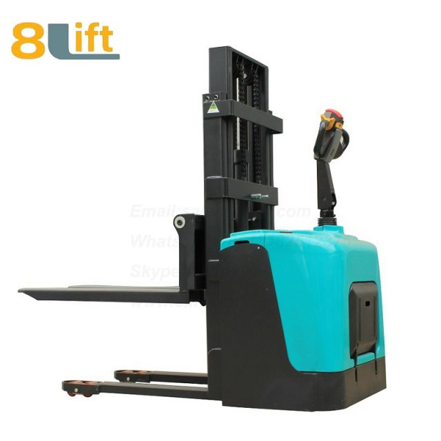 Hydraulic stand standing on driving full electric stacker-5-1