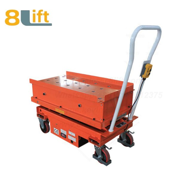 Semi electric Hydraulic scissor move mobile moveable movable with ball beads platform lift table-2-1