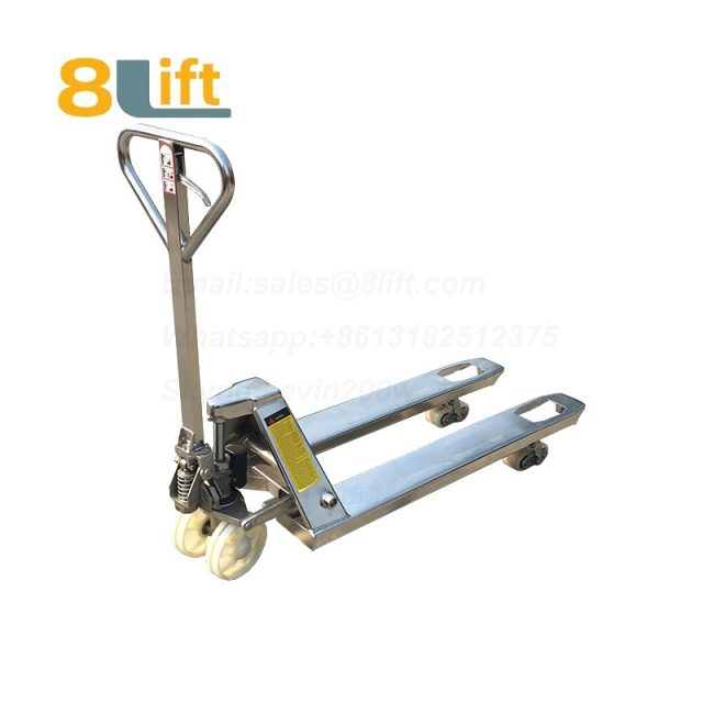 Stainless Steel Hydraulic Manual Hand operated lift Pallet Jack Pallet Truck-1a-1