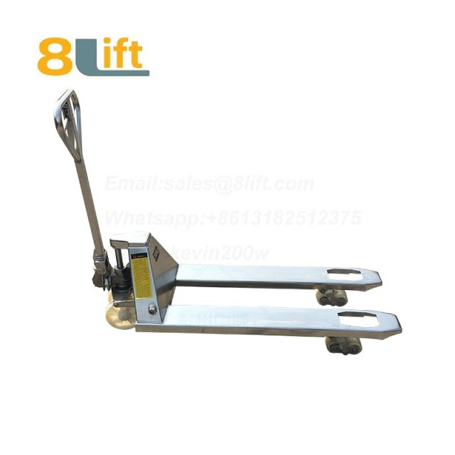 Stainless Steel Hydraulic Manual Hand operated lift Pallet Jack Pallet Truck-1b-1