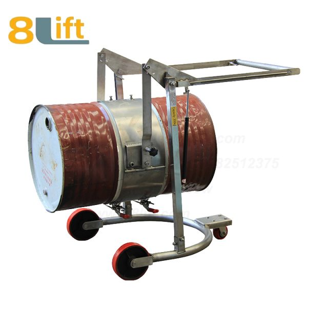Stainless Steel Mechanical Manual Hand Operated Move Lift Eagle mouth Clamp Handing Clip Hook Hoop Type Tilting Flip Rotate Oil Drum Truck Trolly Trolley1
