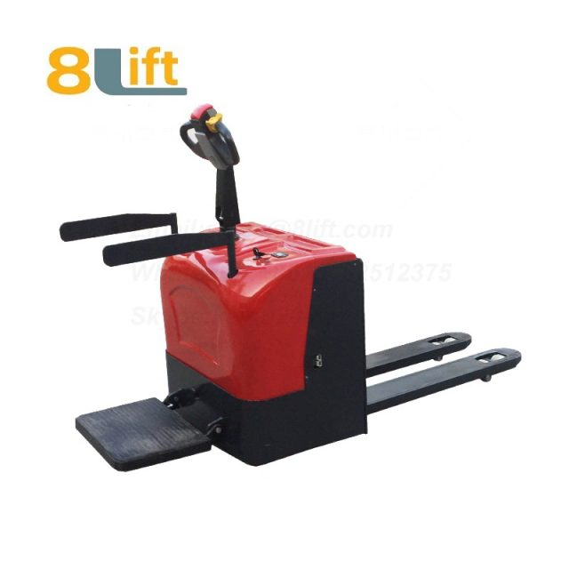Stand Standing on Driving Drive Hydraulic Automatic move and lift battery powered self propelled Pallet jack Full All electric Pallet Truck-10-1