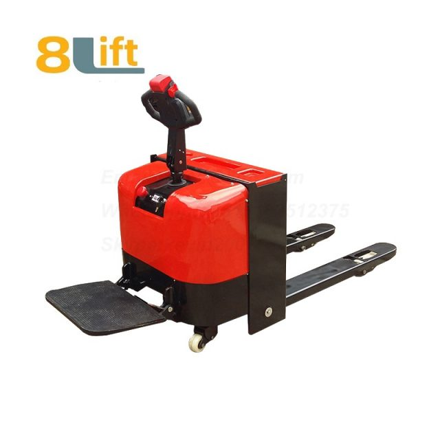 Stand Standing on Driving Drive Hydraulic Automatic move and lift battery powered self propelled Pallet jack Full All electric Pallet Truck-7-1