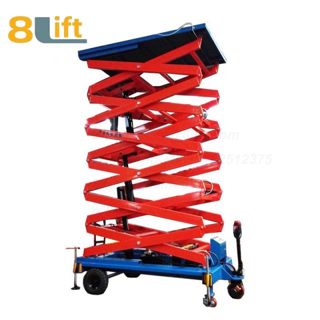 electric lift ladder aerial man work electric Hydraulic scissor mobile movable platform lift table-1-1