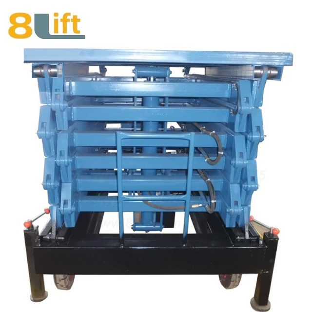 electric lift ladder aerial man work electric Hydraulic scissor mobile movable platform lift table-3-1