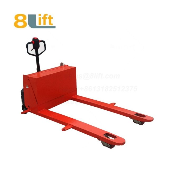 Hydraulic Automatic battery powered self propelled pedestrian walkie Wide Straddle Leg extra Long fork Overlength pallet jack electric Pallet Truck-6-1
