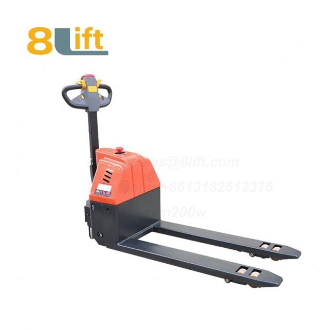 Hydraulic Automatic battery powered self propelled pedestrian walkie short fork Small pallet jack electric Pallet Truck-11-1