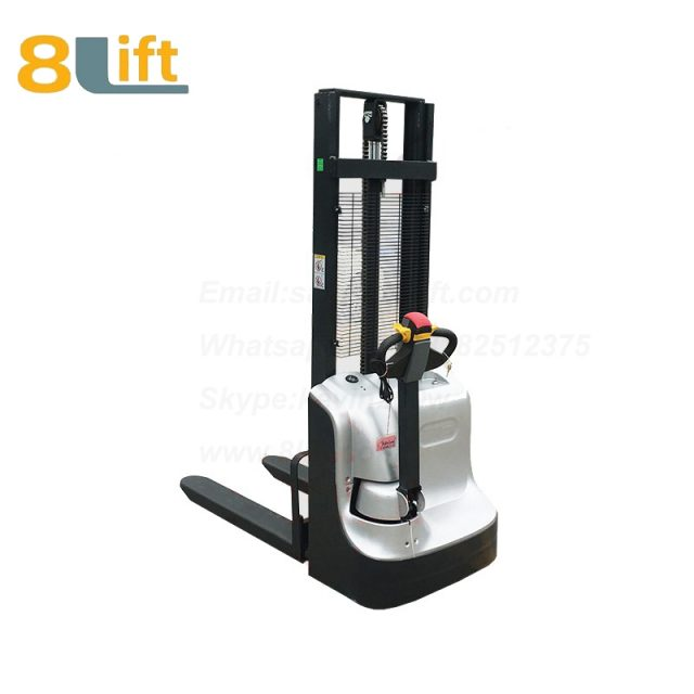 Hydraulic Automatic Battery Powered self propelled pedestrian walkie electric pallet stacker-1-1